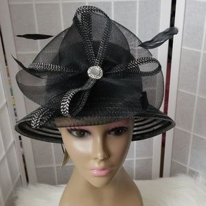 Black and silver dress hat
